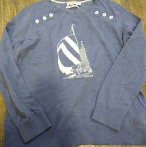 Nautica Sailboat XL Blue Sweater 35th anniversary